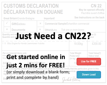 CN22 Customs Declaration on EdgeCTP Get For Free