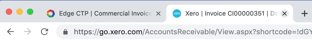 Close Xero tab
