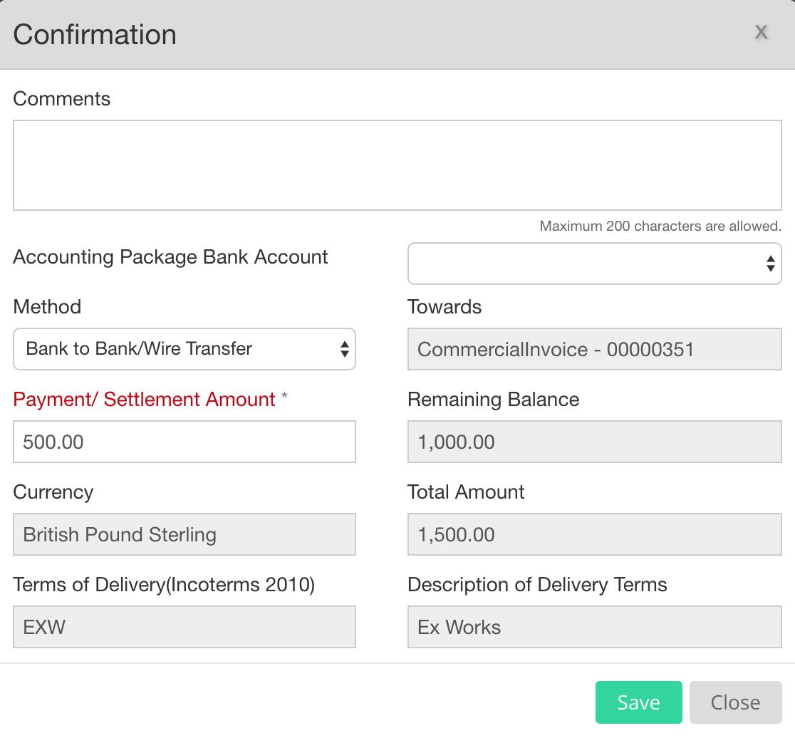 EdgeCTP Part Settle an Invoice into Xero