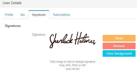 EdgeCTP User Signature