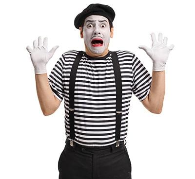 Masked Man Scared of Risk