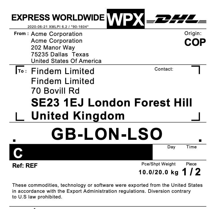 shipment-dhl-label