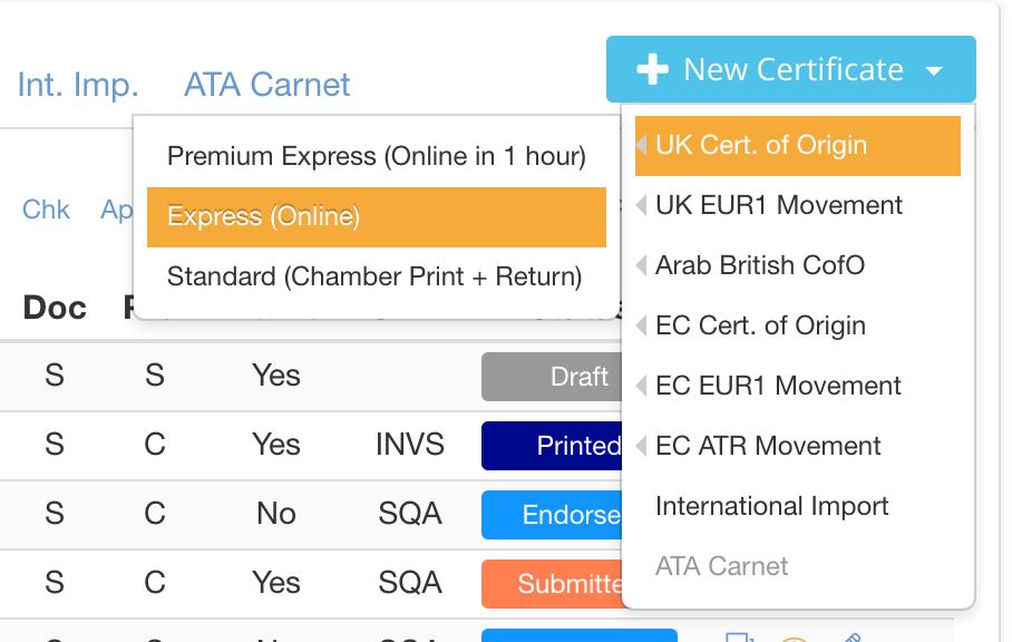 certificates-page-menu