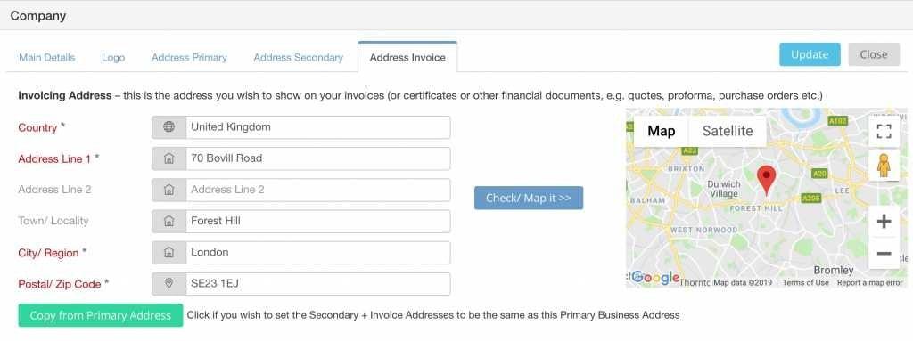 company-invoice-address