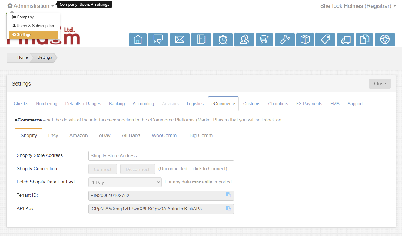 edgectp-ecommerce-shopify-settings