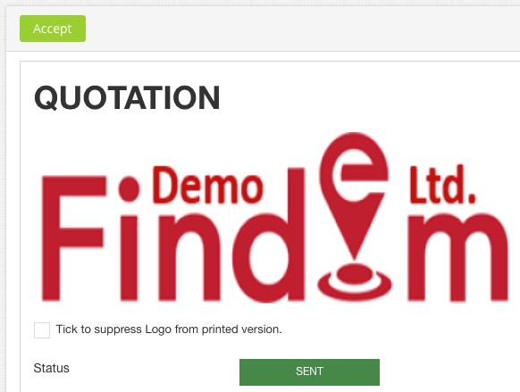 quoatation-sent-status